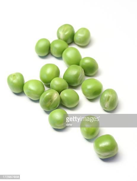 Frischen grünen Erbsen