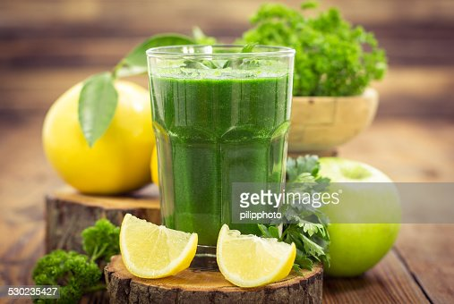 Fresh green smoothie : Stock Photo