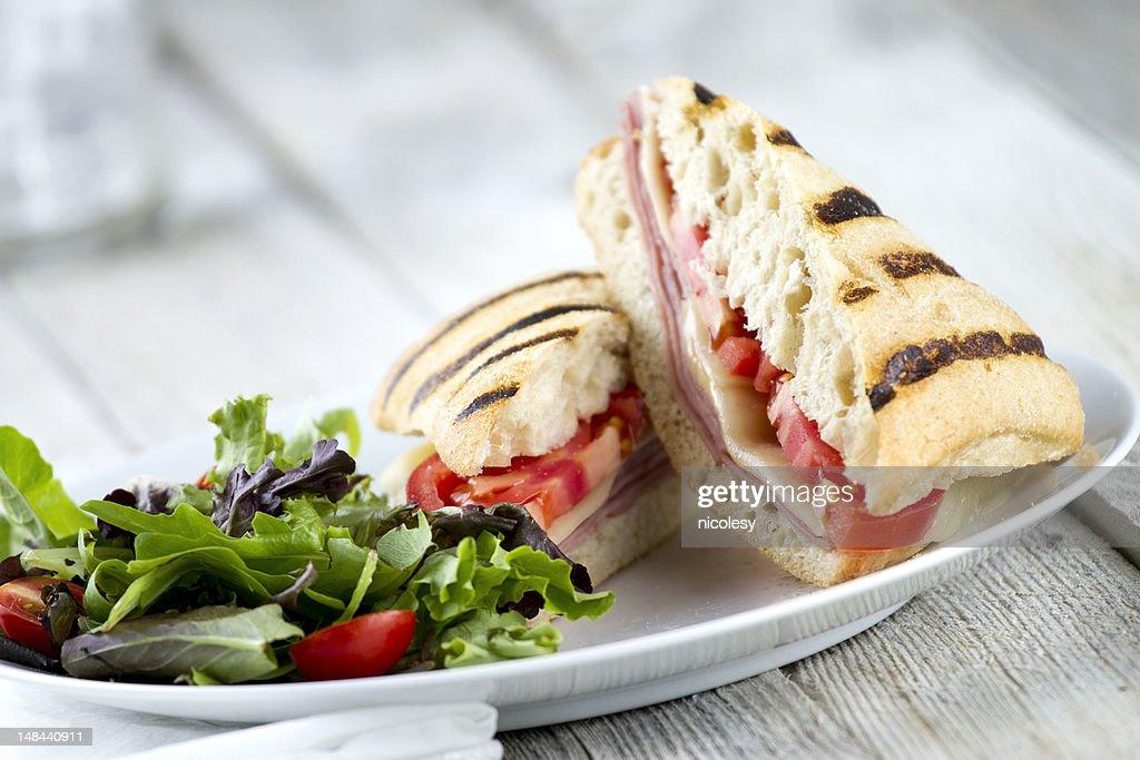 Fresh Grilled Panini Sandwich : Stock Photo
