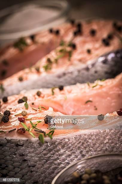 Saumon grillé avec Seasalt Steak