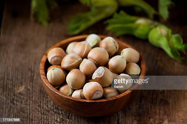 Fresh hazelnuts