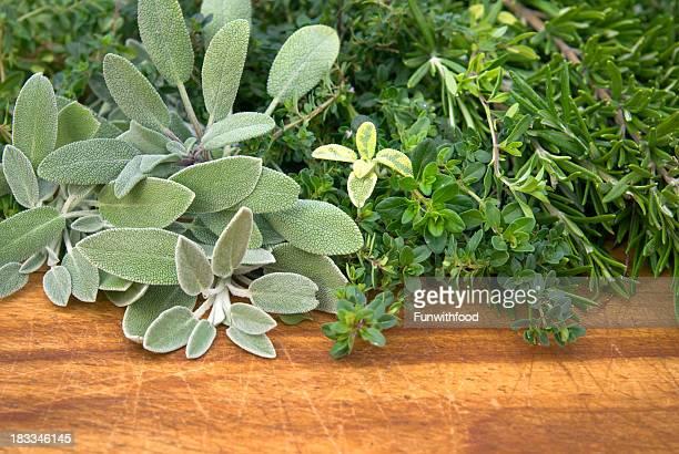 Fresh Herbs: Sage, Rosemary & Thyme, Seasonings & Cooking Food Ingredients
