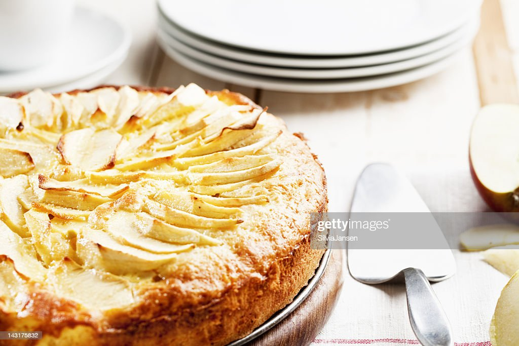 fresh homemade apple pie cake : Stock Photo