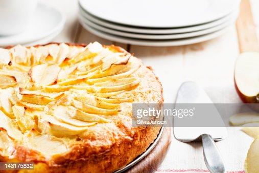 fresh homemade apple pie cake : Stock Photo