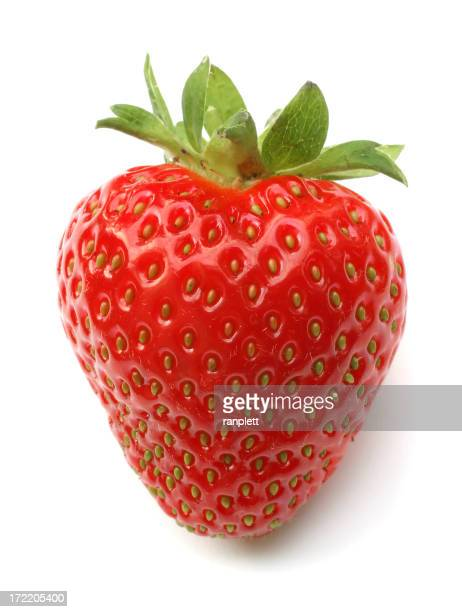 Frische isoliert Erdbeere (herzförmiger)