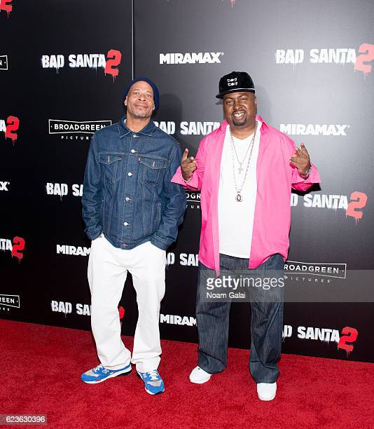 Fresh Kid Ice and Brother Marquis of 2 Live Crew attend the 'Bad Santa 2' New York premiere at AMC Loews Lincoln Square 13 theater on November 15...