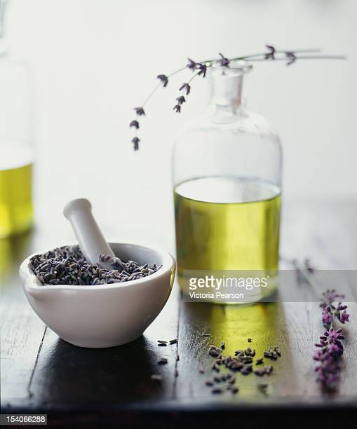 Fresh lavender and lavender oil.