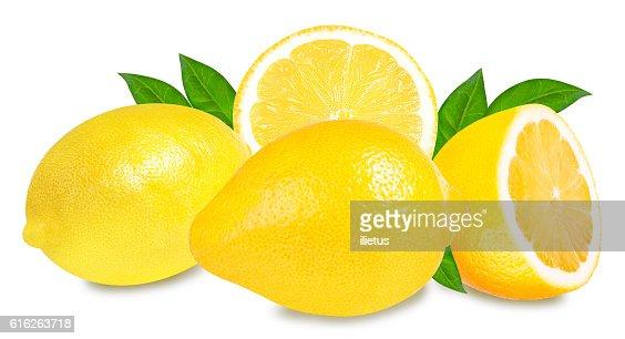 Fresh lemon isolated on white : Stock Photo