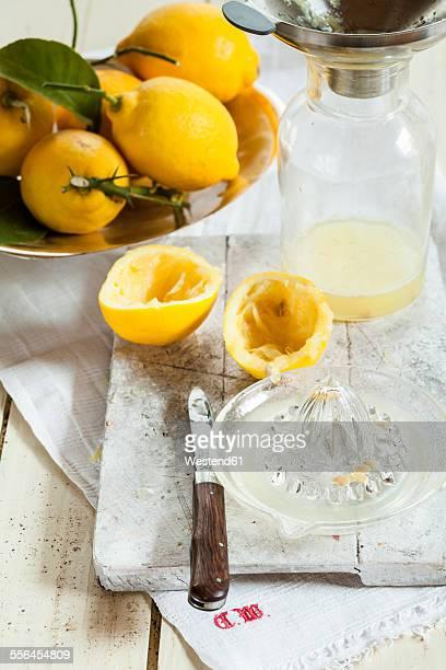 Fresh lemons for making lemonade