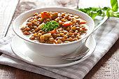 fresh lentil stew