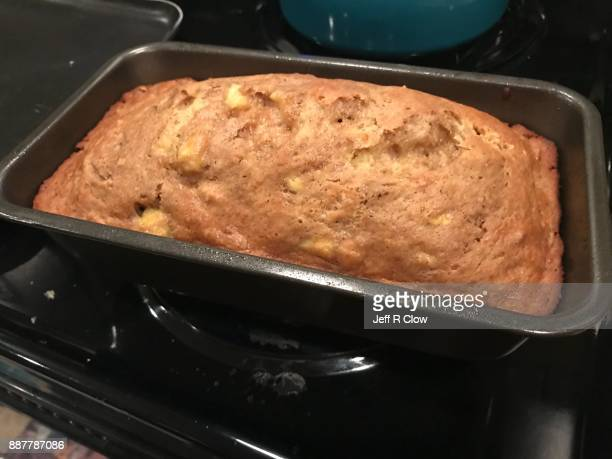 Fresh Loaf of Bread in the Pan on the Stove 2