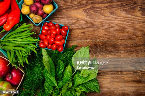 Fresh market fruits and vegetables : Stock Photo