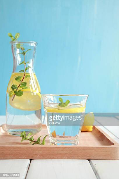 Fresh Mint And Lemon Water