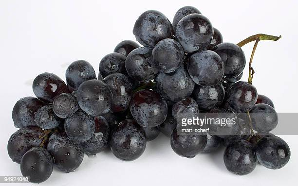 Fresh Muscat grapes isolated on a white background