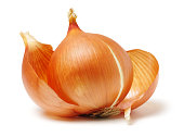Fresh onion bulb isolated on white. With clipping path