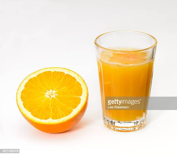 Fresh Orange Juice and Orange Half
