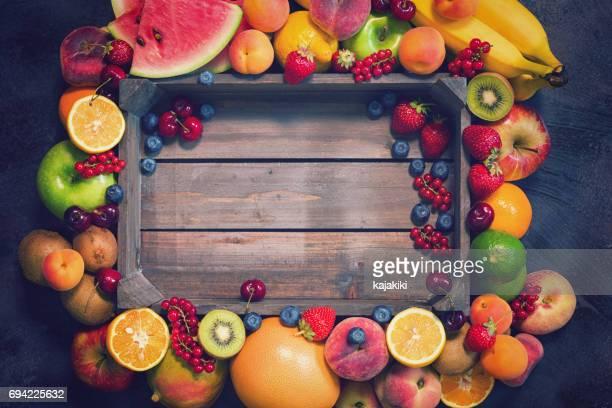 Fresh Organic Fruits Background