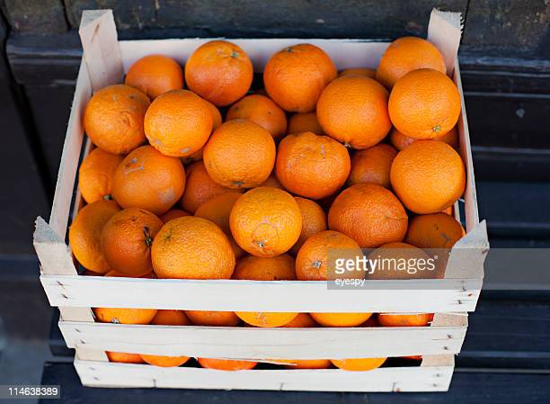 Fresh organic oranges