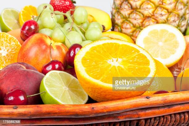 Fresh Organic Produce in Fruit Basket