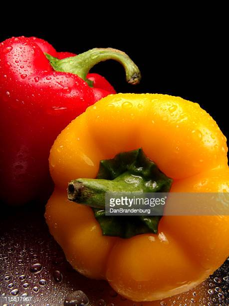 Fresh Peppers, Red and Yellow