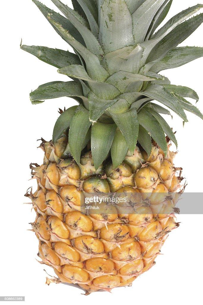 Fresh pineapple isolated on white : Stock Photo