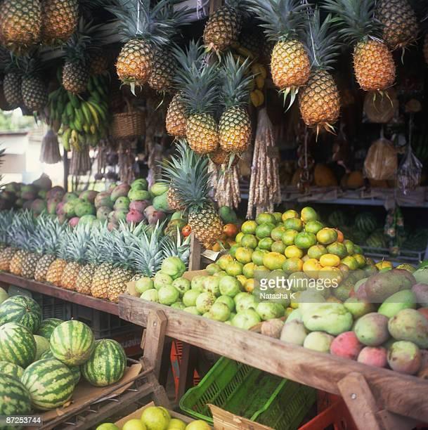 Fresh produce at fruit market
