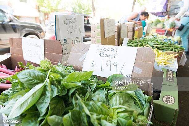 Fresh Produce Grown Locally For Sale in Vancouver Canada Market