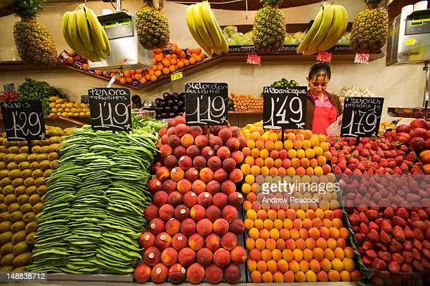 Fresh produce, Mercat de la Boqueria.