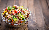 Fresh quinoa salad in the bowl