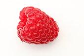 Fresh raspberry (rubus idaeus) macro