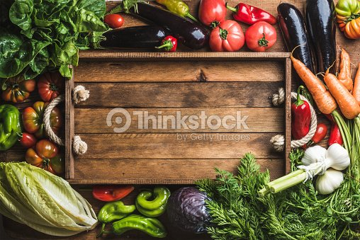 Fresh raw ingredients for healthy cooking or salad making with : Stock Photo