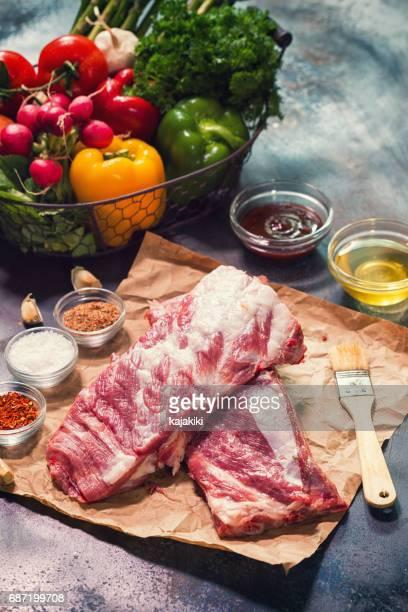 Fresh Raw Pork Ribs