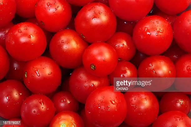 Fresh red Cherry Tomato Wallpaper Background