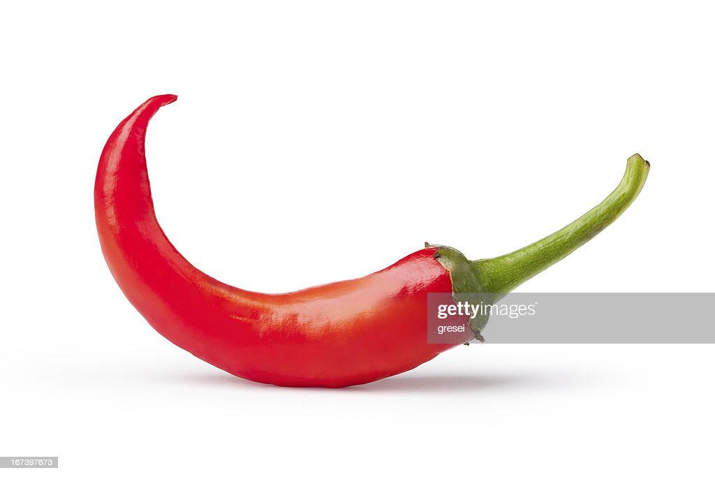 Fresh red pepper : Stock Photo