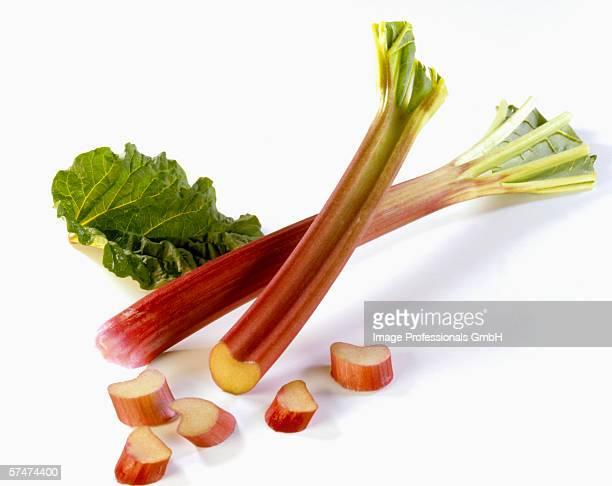Fresh rhubarb, cut up