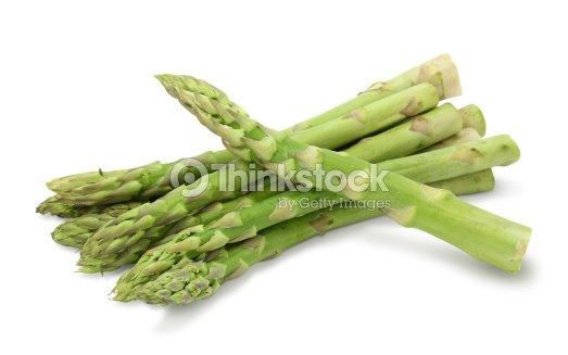Fresh ripe asparagus on a white background : Stock Photo