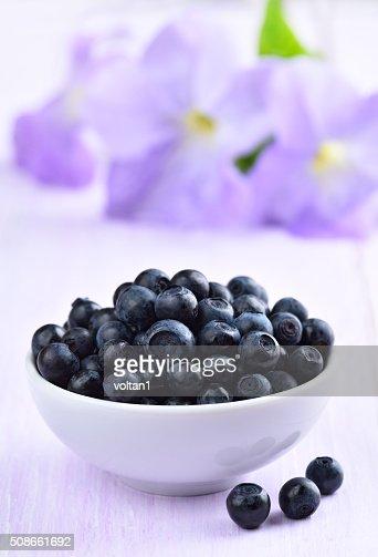 Fresh ripe blueberries : Stock Photo