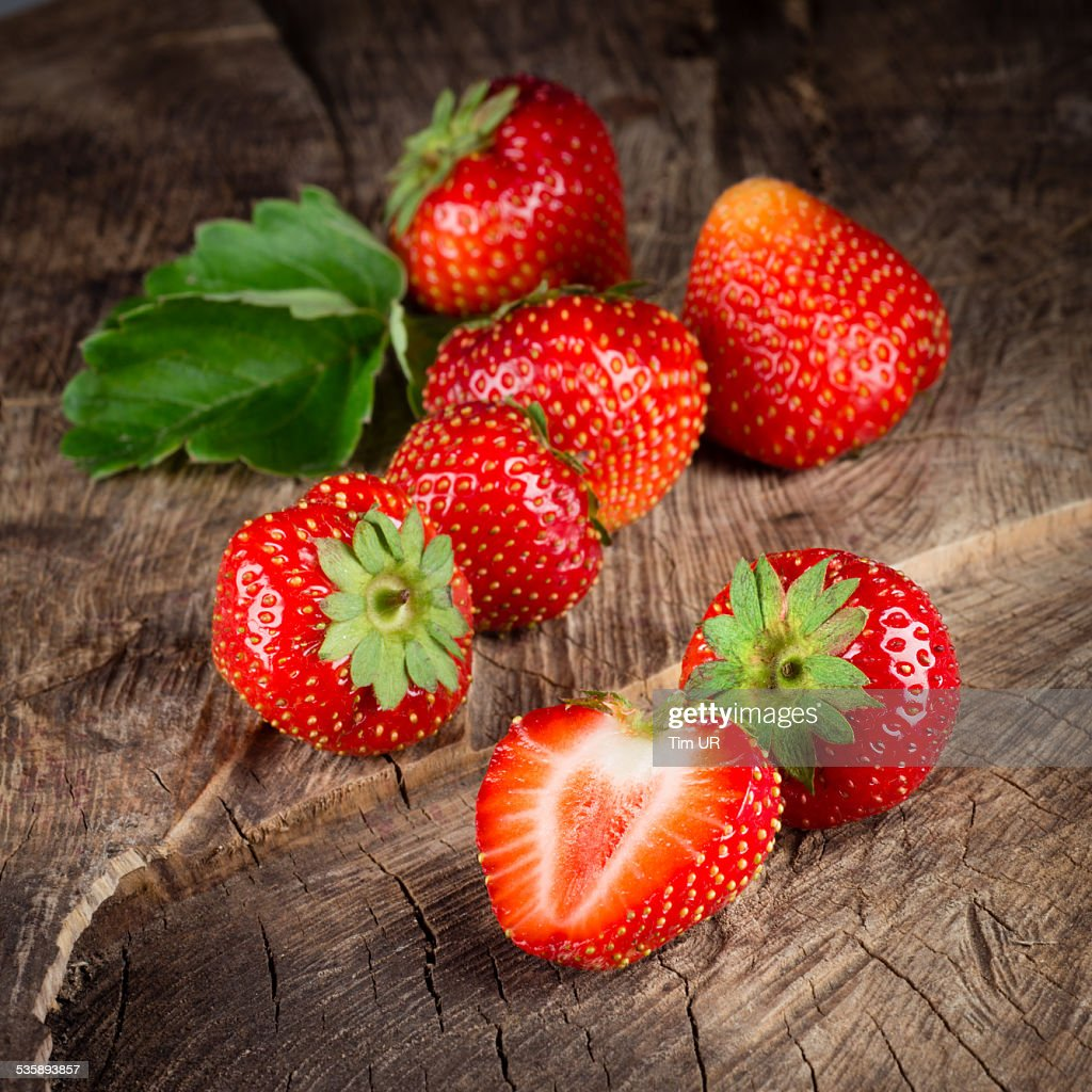Fresh ripe strawberry. Group of berries : Stock Photo