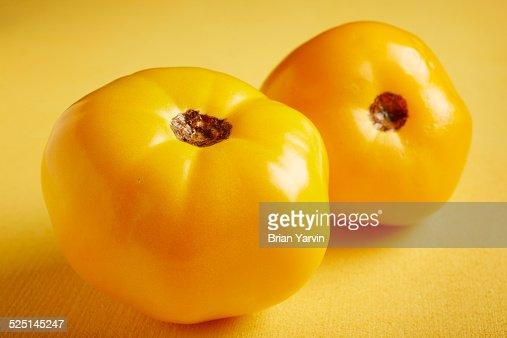 Fresh, ripe yellow tomatoes