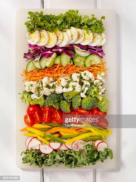 Salade fraîche avec des ingrédients