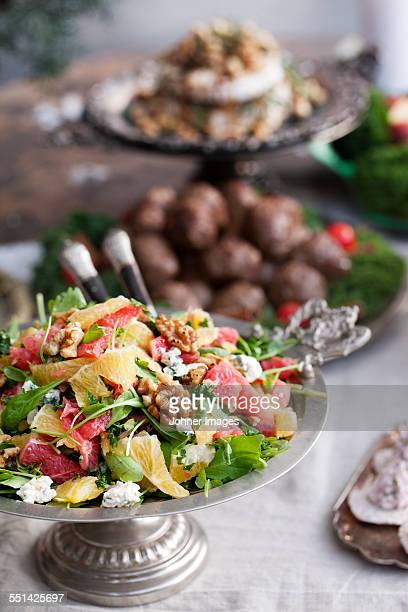 Fresh salad on table