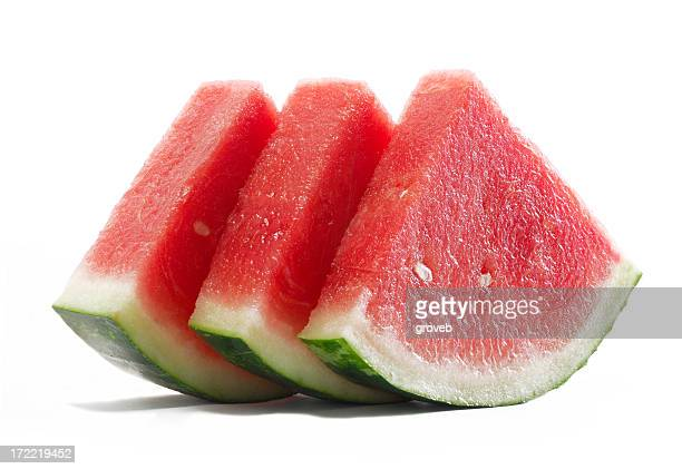 Fresh slices of watermelon.