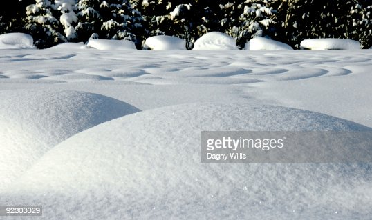 Fresh snow creates patterns.