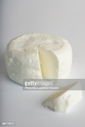Fresh soft goat cheese from Tarn, France : Stock Photo