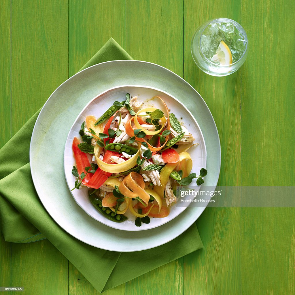 Fresh Spring Chicken Salad : Stock Photo