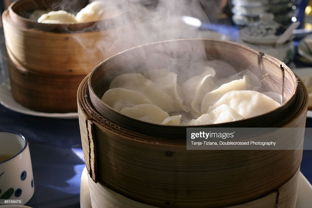 Fresh Steamed Dumplings : Stock Photo
