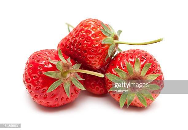 Frische Erdbeeren, isoliert