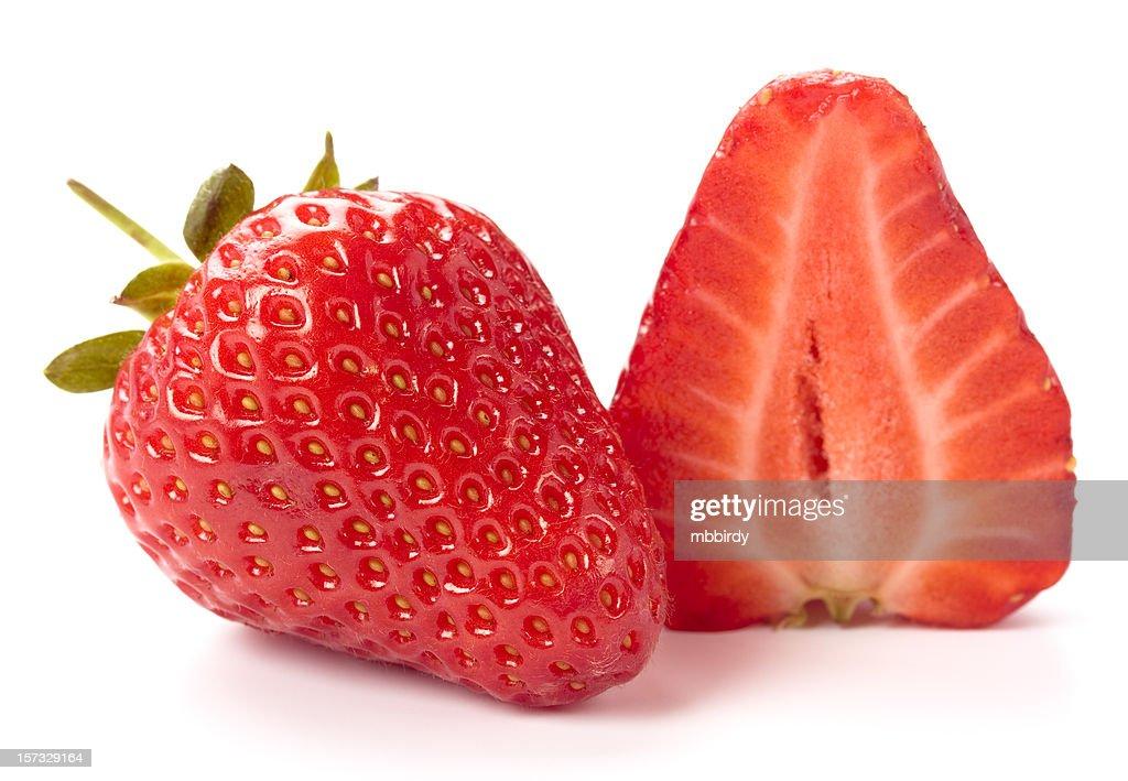 Fresh strawberry, isolated on white background