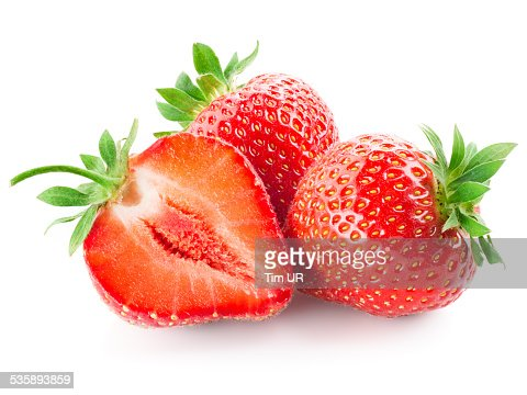 Fresh strawberry isolated on white : Stock Photo