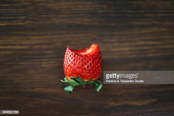 fresh strawberry on the wooden table